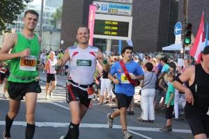 Hendrik (links) und Manuel beim Köln-Marathon 2011