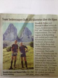 Westdeutsche Zeitung vom 18.09.2012