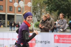Eva beim Köln-Marathon 2012.