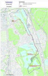 Die 15k-Laufstrecke in Duisburg. Quelle: ASV Duisburg