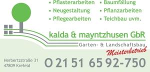 Ebenfalls ein großer Unterstützer der Seidenraupen: Der garten- und Landschaftsbetrieb Kalda & Maynthusen.