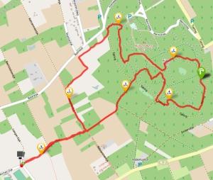 Die 6km-Runde beim Seidenraupen-Cross 2014.