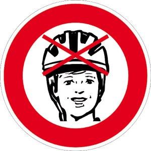 Man, sehen Sie nicht, dass Sie hier kein Radfahren dürfen? Naja, verzichten Sie dann aber wenigstens auf den Helm, damit Sie sich auch wenigstens richtig weh tun, wenn Sie mit einem Läufer kollidieren und sich hinlegen. Oder mit einem Hundehalter. Oder mit einem Hund. Oder mit einem Pferd. Oder mit wem auch immer. Wehtun soll es! Pah!