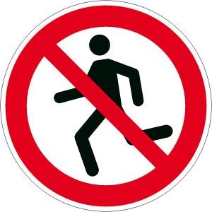 Bitte laufen Sie nicht. Sie könnten durch zu viel Geschwindigkeit Schweiß produzieren, der wiederum den Gelbwand-Dünnschnabel-Falter in seiner Population stört.