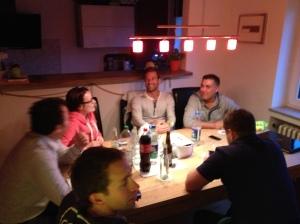 Konspiratives Treffen für den Seidenraupen Cross 2013.
