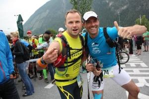 Harry (rechts) war bei Etappe drei mit dabei...