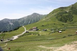 Alpenlandschaft Serfaus.