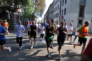 Gibt es selten: Laufen durch die City. Foto: SC Bayer Uerdingen