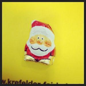 Mit diesem Weihnachtsmännchen aus Vollmilch-Schokolade endet meine vegane Phase.