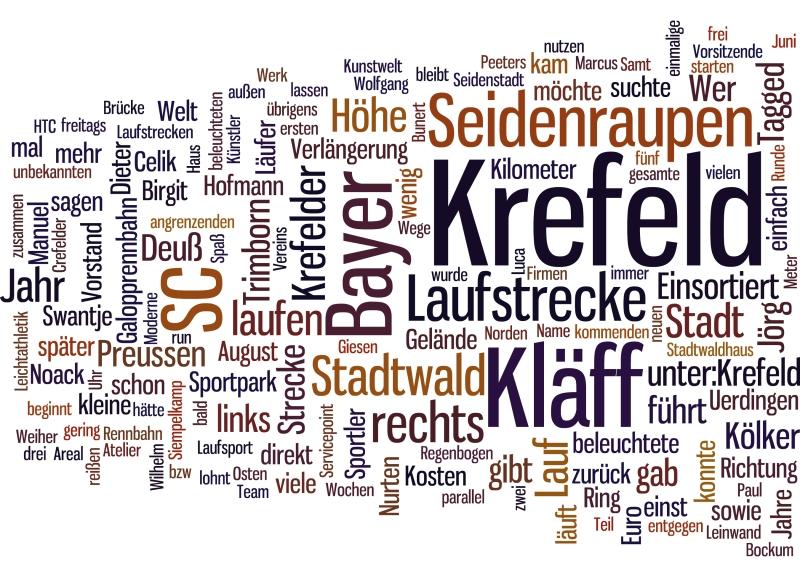 Lustiges Wordle unserer Seite...