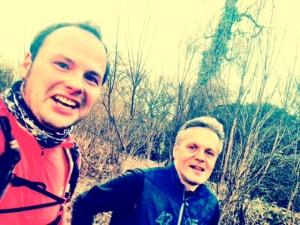 Marcel Witeczek (rechts) läuft auch gerne und lange.