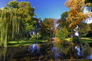 Der Schönhausenpark  ist einer der schönsten Parks in ganz Krefeld.  Durch ihn geht es auf der heutigen Laufrunde. Foto: Stadt Krefeld, Presse und Kommunikation