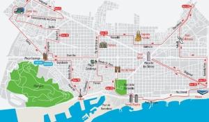 Der Kurs des Barcelona-Marathons.