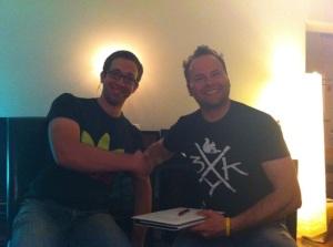 Moritz (designierter 2. Vorsitzender) und Manu (designierter 1. Vorsitzender).