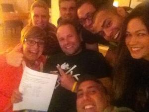 Die acht Gründungsmitglieder des Seidenraupen Krefeld e.V.!