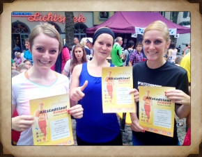 Eva, Antje und Lisa begeistern in Kempen mit tollen Zeiten.
