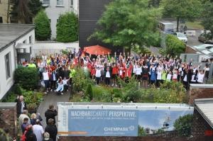 Die Läufer im Hospizgarten. Foto: SC Bayer Uerdingen