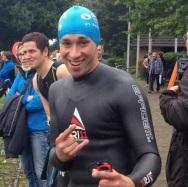 Moritz kurz vor dem Start am E-See.