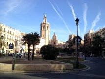 Einer der vielen Plätze in Valencia.