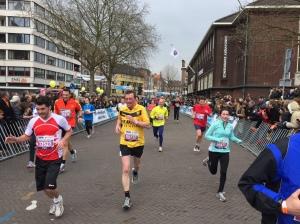 Zielleinlauf beim Zehner in Venlo.
