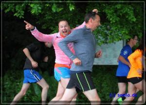 Gute Stimmung beim Pfingstlauf im Stadtwald. Foto: Samla