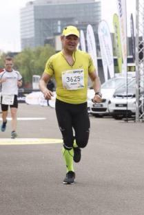 Adam beim Zieleinlauf in Düsseldorf!
