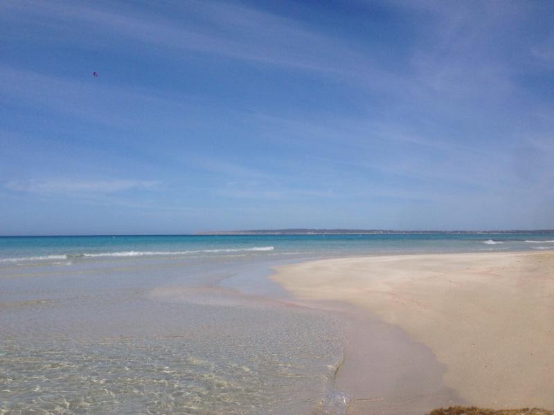 Sandras Aussicht beim Morgenlauf in Formentera.