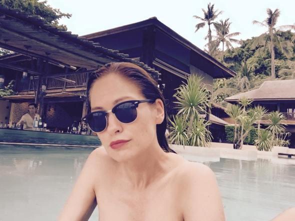 Steffi im Schwimm-Trainingslager in Koh Phangan, Thailand