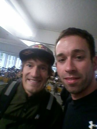 Ironman-Hawaii-Gewinner Sebastian Kienle (links) und Moritz.