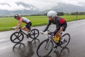 Anders als in der Zeller Regenschlacht 2013 erwartet Moritz am Samstag eine Hitzeschlacht. Foto: IRONMAN