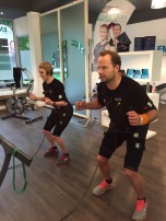 Training in der EMS-Lounge am Sprödentalplatz.