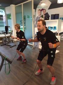 Training in der EMS-Lounge am Sprödentalplatz.