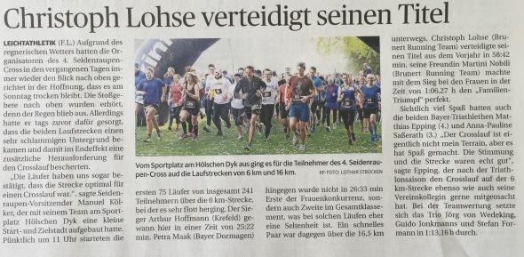 Rheinische Post, 19. Oktober 2015