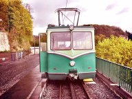 Die Drachnfels-Bahn. Wurde links stehen gelassen...