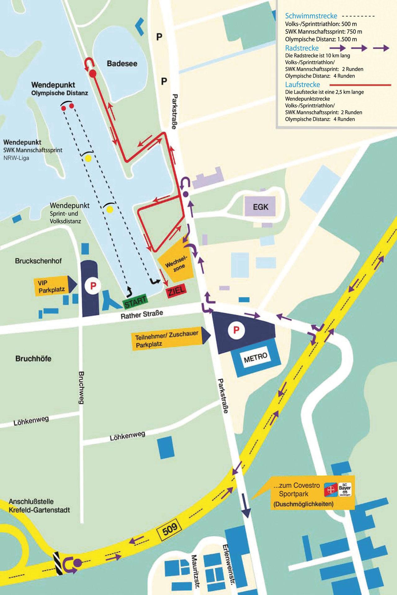 Bayer-Triathlon-Kartenausschnitt-Schwimm-Lauf