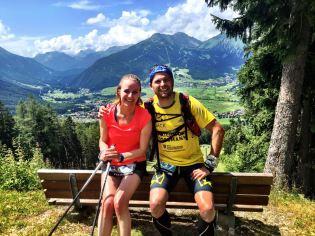 Eva und Manu beim ZugspitzHalbmarathon 2016.