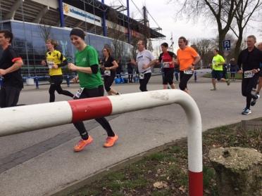 Eva beim zweiten Teil der Winterlaufserie in Duisburg.