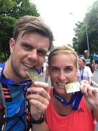 Lisa ist zusammen mit Ehemann Hendrik erstmals einen Marathon gelaufen.