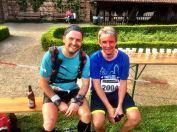 Kollege Christoph, der glücklich über seine neue PB über zehn Kilometer war.