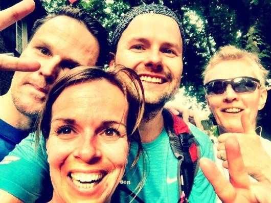 Das Quartett der letzten Runde: Lars, Meike, Manu und Ursula.