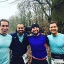 Moritz, Aki, Manu und Marcus vor dem Start.